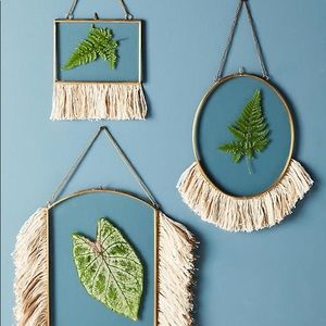 🌙Anthropologie Fringed Hanging Frame